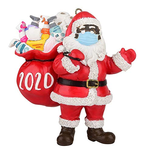 Jkerther Christmas Decoration Hanging Ornaments,2020 Personalized Christmas Ornaments,Christmas Yard Decoration Home Decor (Style 2-Black face Santa Claus Pendant, 1Pcs)