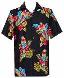 Alvish Camisa Hawaiana para Hombre - Negro - Large