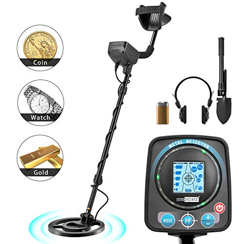VIVOHOME Metal Detector Waterproof with Headphone for Adults Kids, Adjustable Length 41-52 inch, High Accuracy with a HD LCD Screen, Varied Smart Modes Detectors Metal