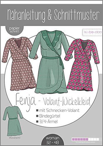 Schnittmuster kibadoo Wickelkleid mit Volant Fenja Damen Papierschnittmuster