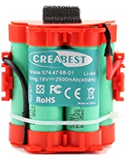 Creabest para Robot Cortador de Césped Husqvarna Automower 105 305 308 Reemplazo Batería de Li-ion de 18V 2500mAh Sustituye 574 47 68-01 574 47 68-02 574 47 68-03