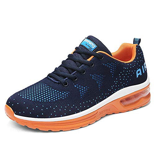 Air Running Baskets Chaussures Homme Femme Outdoor Gym Fitness Sport Sneakers Style Multicolore Respirante-BlueOrange39