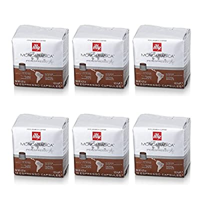 illy 6 Packs 18 Monoarabica Brazil Capsules