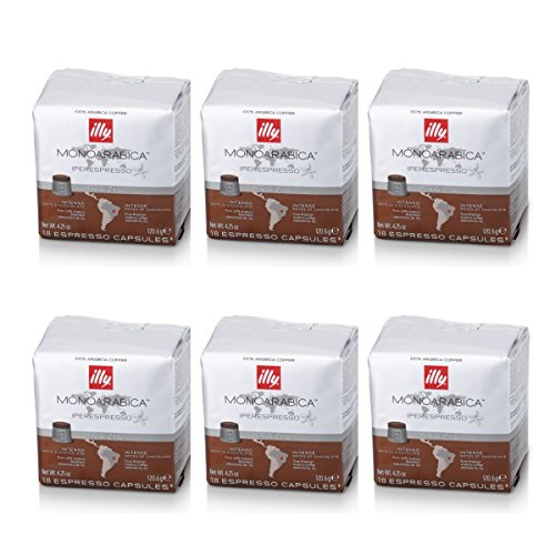 Illy - 6 paquetes de 18 cápsulas de café Monoarabica, Brasil, marrón