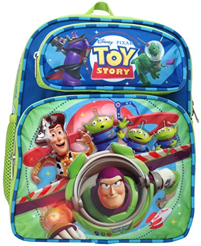 Disney Pixar Toy Story Buzz Lightyear Woody Aliens Rex 12 inches Toddler Mini Backpack