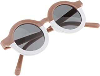 Fityle - FITYLE Gafas de Sol con Forma Redonda para niños Lindos Regalos para niños pequeños, de 3 a 10 años, protección UV 400 - Pink White
