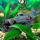 Cakunmik Aquarium Fish Tank Paisajismo Fighter, Ornamentos creativos, Pescado y camarones Husing House Resin Crafts