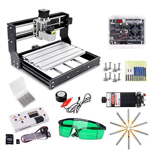 CNC 3018 Pro 7W máquina de enrutador de grabado, versión actualizada GRBL Control DIY Mini máquina CNC, 3 ejes PCB fresadora con controlador fuera de línea, con ER11 y 5mm varilla de extensión