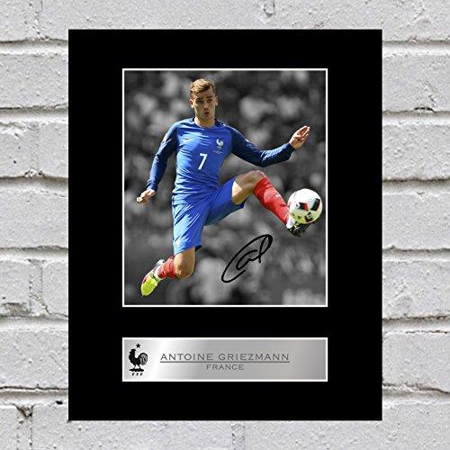 Foto firmada por Antoine Griezmann Francia FC, imagen de regalo autografiada