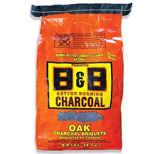 B&B Charcoal Natural Oak Briquets, 3990 GR