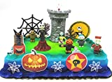 Nightmare Before Christmas 17 Piece Birthday Cake Topper Set Featuring 2' to 3' Cake Topper Figures of Lock, Shock, Zero, Jack Skellington, Sally, Barrel and Other Decorative Themed Accessories