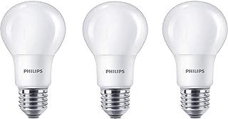 comprar comparacion Philips Bombilla LED estándar E27, 8W equivalentes a 60W en incandescencia, 806 lúmenes, luz blanca cálida, pack de 3