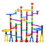 122 Pcs Marble Run Set Toys for 3 4 5 6 7 8 Year Old Boys Girls, Imaginarium Construction Building Blocks STEM Toys Deluxe Marble Maze Game Christmas Toys Gifts for Kids Children