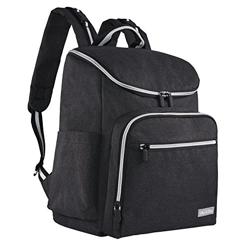Diaper Backpack by Alex & Kate - Stylish Multi-Function Nappy Bag for Mom with Changing Pad - Large Capacity Waterproof for Baby Travel Maternity Parents, Black