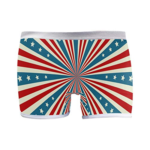 FANTAZIO American Flag Stripes Basics Damen Moderner Boy Short Boxershorts Gr. 3-4Jahre, 1