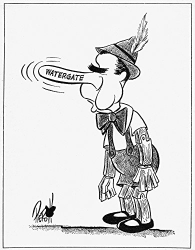 Watergate Scandal 1973 Npresident Richard Nixon Caricatured As Pinocchio In A Cartoon By John Pierotti For The New York Post 8 June 1973 On The Watergate Scandal Poster Print by (18 x 24)
