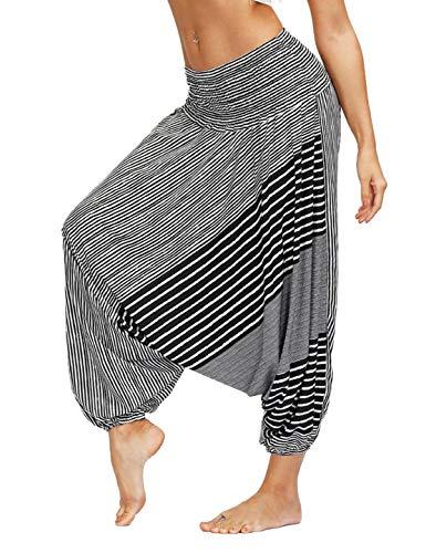 PIZOFF Damen Nepal Stil Baggy Pumphose Boho Yogahose Strand Haremshose Harem Aladinhose