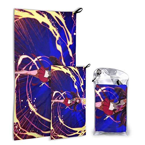 MEITOU Hino Rei Outdoor Microfiber Towel Set, 2 Pa Qui Dry Towel. Lightweight Travel Towel, Camping Towel. Fast Drying Gym Towel