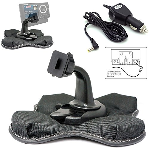 ChargerCity Sirius XM PowerConnect Satellite Radio Vehicle Cable Charger & Nonslip Beanbag Friction Mount Kit Onyx Lynx Edge Plus Starmate Xpress EZ R RC (for Single TAB Power Connect Dock ONLY)