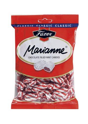 Fazer Marianne Rot Finnischen Milchschokolade Gefüllt Mint Bonbons Süßigkeit Süßigkeiten Beutel 220g.