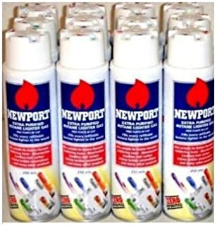 Newport Zero Extra Purified Butane Gas ((12 cans)) by Newport