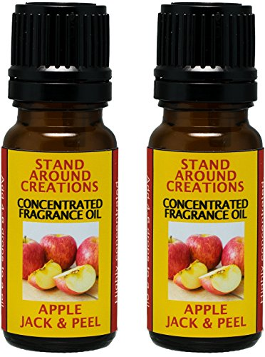 doterra at home peels Stand Around Creations Set of 2 - Concentrated Fragrance Oil - Apple Jack & Peel - Apples and Oranges Blended w/Cinnamon, Clove, Nutmeg. Infused w/Essential Oils. (.33 fl.oz.)