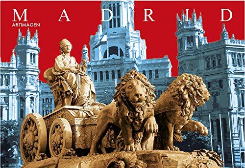 Postkarte Madrid Cibeles-Korrekturen 16 x 11 cm.