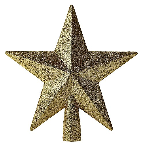 SSITG Glitter kerstboom ster kerstboompiek ster kerstmis decoratie goud (3-5 dagen levertijd)
