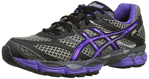 Asics Gel-Cumulus 16 G-TX - Scarpe sportive - Donna - Marrone (Carbon/Purple/Lime 7436), 3 UK / 35.5 EU
