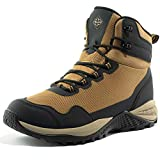 Wantdo Men's Waterproof Work Boots Mid Ankle Hiker Mountaineering Boots Trekking Backpacking Boots 11 M US Sand