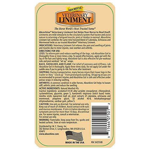 Absorbine Veterinary Liniment Gel, 12-Ounce