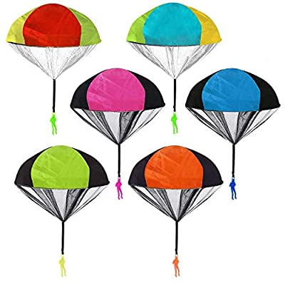 Amazon - Save 50%: Parachute Toys, 6 PCS Tangle Free Throwing Hand Throw Soldiers Toy Parac…