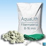AquaLith 25 KG ZEOLITH Filtermaterial 8-16 mm + 2 x Filtersäcke XL 43x60 cm für Koiteiche, Gartenteiche, Zierteiche und Schwimmteiche