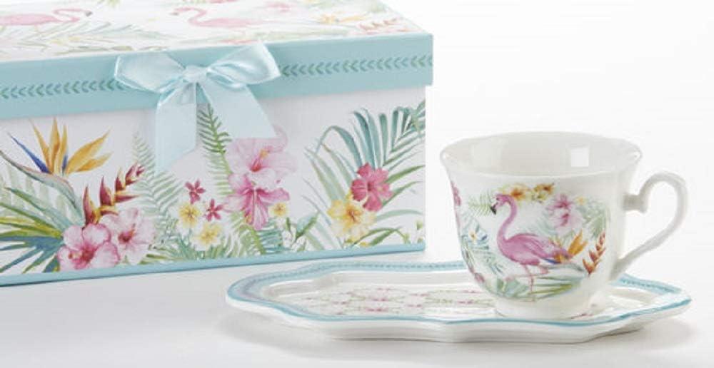 Delton Porcelain Flamingo supreme Tea Toast Set Free Shipping Cheap Bargain Gift and