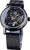 QHG Relojes automáticos de Banda de Malla clásica para Hombres Reloj de Pulsera de Acero Inoxidable mecánico Unisex Luminoso Unisex