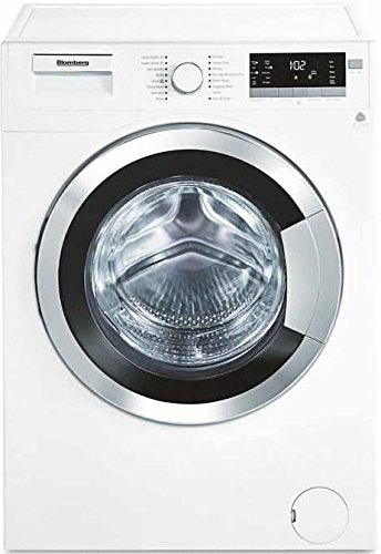 "WM98400SX 24"""" 2.5 cu. ft. Capacity Front Load Washer With Stainless Steel Drum LED Digital Display Variable Spin Speed From 600 To 1400 RPM In White with Chrome Door"