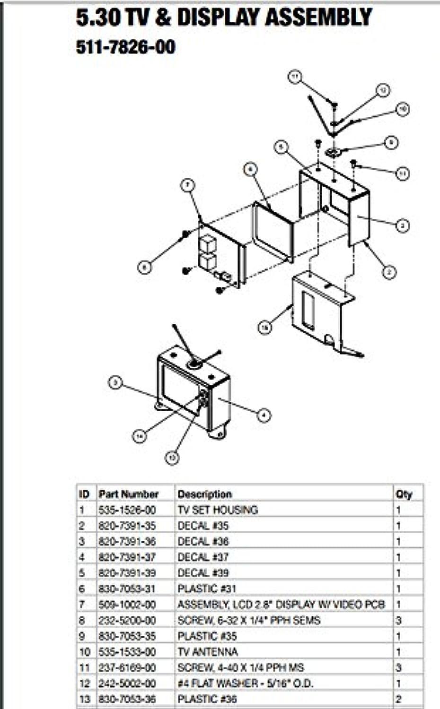 Stern Pinball Flipper LCD 2.8' Display Assembly  509-1002-00