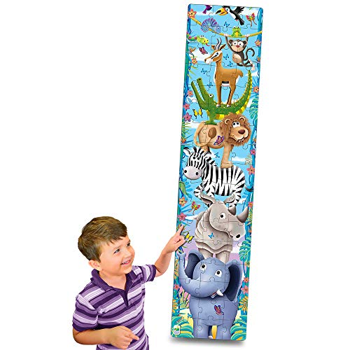 The Learning Journey Long & Tall Puzzle – Big to Small Animals – 51 Piece 5-Foot-Tall Preschool Puzzle – Educational Gifts for Boys & Girls Ages 3 and Up, Multi (430057)
