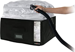 Compactor Storage Bags Vacuum Sealed Space Saving Bags - Black Infinity- Medium (16.5x10x16.5)