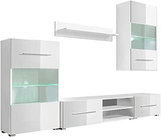 vidaXL Mueble de Pared 5 Unidades Gabinete TV con Iluminaci