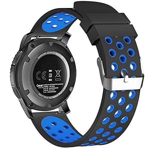 Shieranlee - Correa para reloj Galaxy Watch de 42 mm, correa de silicona suave de 20 mm, compatible con Galaxy Watch Active2 de 44 mm, Galaxy Watch Active2 de 40 mm