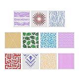 HEALLILY pintura plantillas de dibujo plantillas plantillas huecos decorativos para el bricolaje proyectos scrapbooking 10pcs (patrón al azar)