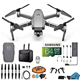 DJI Mavic 2 Zoom Drone Quadcopter with Smart Remote Controller (Built in Monitor) 24-48mm Optical Zoom Camera Bundle Kit with Must Have Accessories