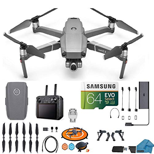 DJI Mavic 2 Zoom Drone Quadcopter with Smart Remote Controller (Built in Monitor) 24-48mm Optical Zoom Camera Bundle Kit with...