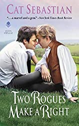 Two Rogues Make a Right by Cat Sebastian book cover