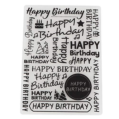 Gelukkig Verjaardag Embossing Mappen voor DIY Scrapbooking Papier Craft/Card maken Decoratie benodigdheden