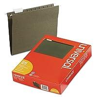 ユニバーサル14115Hangingファイルフォルダ、1/5タブ、11点ストック、文字、標準緑、25/ボックス