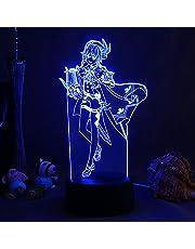 Nachtverlichting, Genshin Impact Venti Anime Figuur Lamp Touch Afstandsbediening Bureau Spel Cartoon Animatie Karakter Accessoires