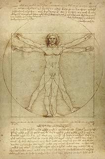 Leonardo da Vinci Notebooks - The Vitruvian Man: 120 College ruled lined pages - Leonardo da Vinci's Notebook, Journal, Sketchbook, Diary, Manuscript (The Vitruvian Man)