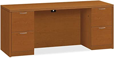 HON Double Pedestal Credenza, 72 by 24 by 29-1/2-Inch, Bourbon Cherry